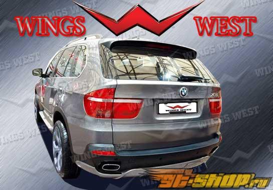 Накладка на задний бампер для BMW X5 2007-2009 A Tech
