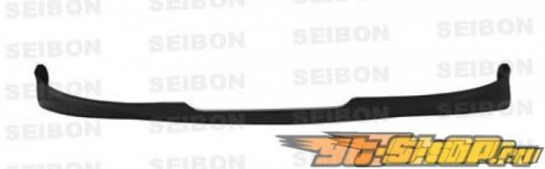 Губа на задний бампер для Toyota Yaris 2006-2010 Seibon стандартный Карбон