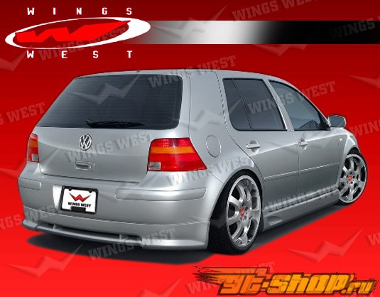 Полиуретановая губа на задний бампер 4 2 двери|Седан JPC Type B на Volkswagen Golf 1999-2005