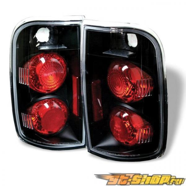 Задние фонари на Chevrolet Blazer 95-01 Altezza Чёрный: Spyder