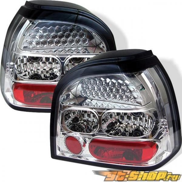 Задние фонари на Volkswagen Golf 93-98 Хром : Spyder