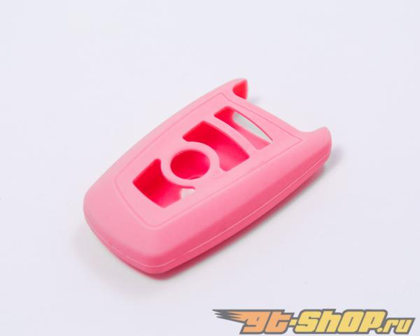 Agency Power Pink Rubber Key FOB Protection Case BMW 7 Series 13-14