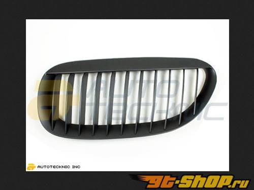 AutoTecknic Replacement ABS Matte Чёрный передний  Grilles BMW E63 Coupe | E64 Cabrio | 6 Series 04-11