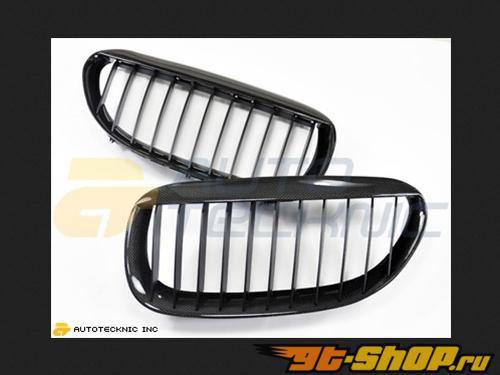 AutoTecknic Replacement Real Карбоновый передний  Grilles BMW E63 Coupe | E64 Cabrio | 6 Series Including M6 04-11