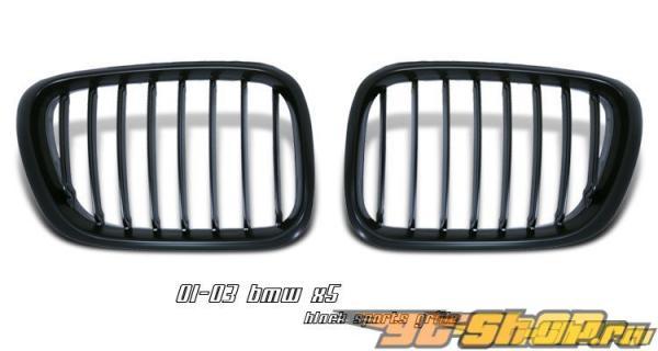 Решётка радиатора для BMW X5 01-03 Чёрный
