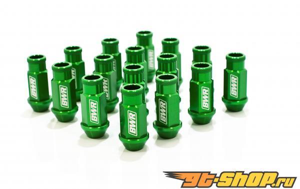 Blackworks Racing Aluminum Series Green Lug Nut Single