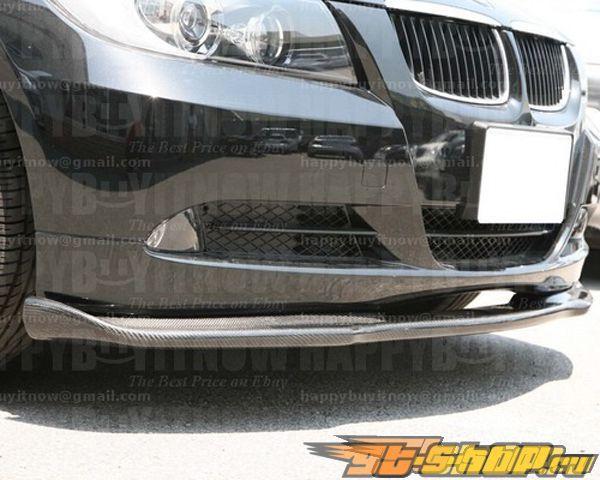 Карбоновая губа на передний бампер Amebastyling H-Стиль для BMW E90 05+
