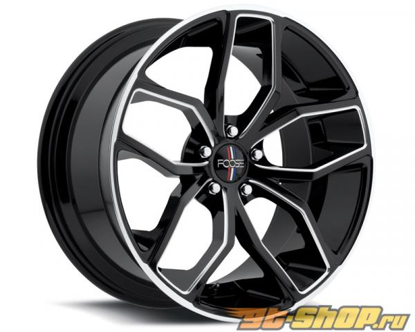 FOOSE Outcast F150 Gloss Чёрный with Milled Spokes & Lip Диски 18x8 5x114.3 +40mm