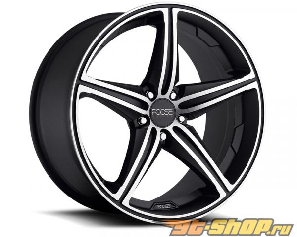 FOOSE Speed F136 Matte Чёрный with Machined Lip & Face Диски 20x8.5 5x112 +34mm