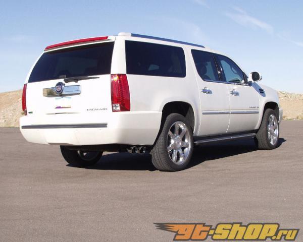 B&B True Dual Выхлопная система with 4inch Twin Round Double Wall Tip Cadillac Escalade 6.2L 2015
