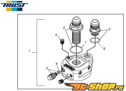 Greddy Union Fitting 1/8PT - 1/8PT Male-Male универсальный