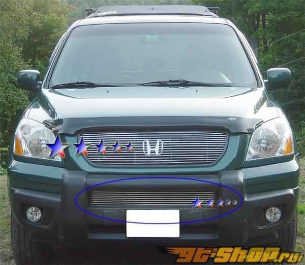 Решётка в передний бампер на Honda Pilot 03-05 Billet