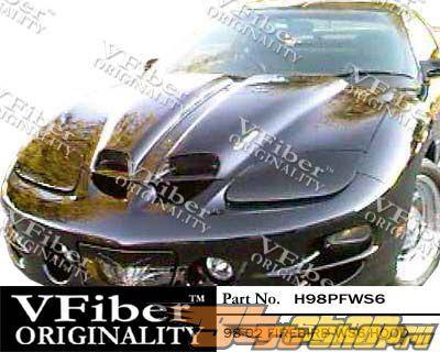 Пластиковый капот для Pontiac Firebird 98-02 WS6 Стиль