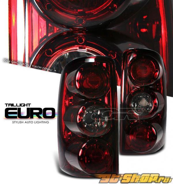 Задняя оптика на CHEVROLET SUBURBAN 00-06 ALTEZZA Тёмный красный
