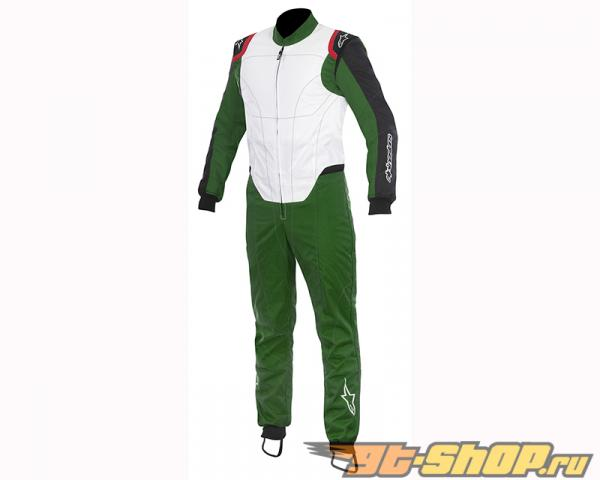Alpinestars KMX-1 Suit 621 Green Белый Чёрный