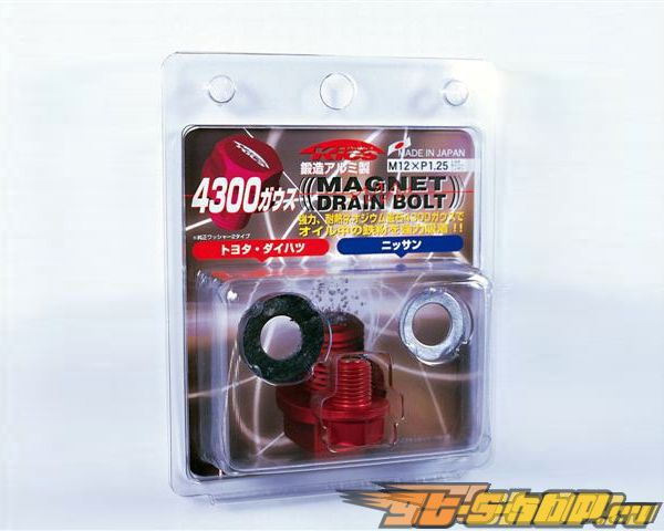KICS Magnetic Drain Bolt Красный M12x1.25 Toyota Nissan