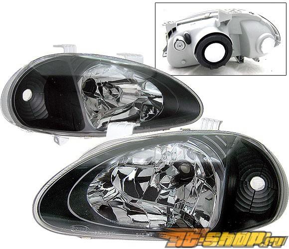Передние фонари на Honda Del Sol 93-97 Чёрный