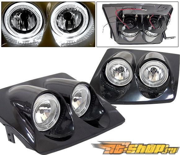 Передняя оптика для  Nissan 240SX 89-94 Dual Halo Чёрный