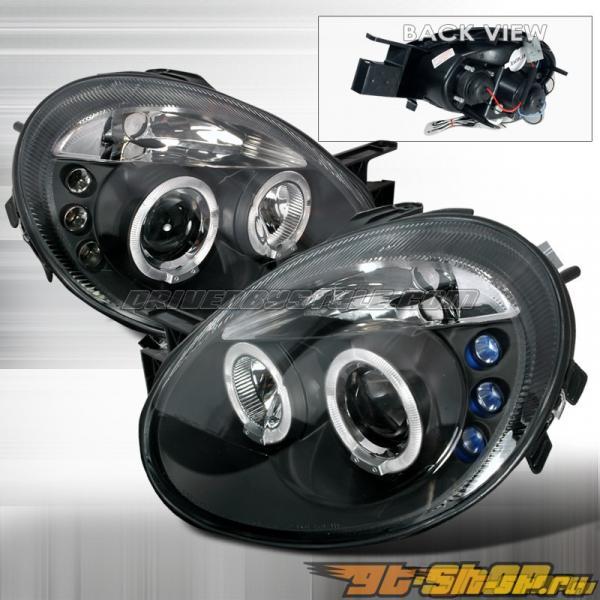 Передняя оптика для Dodge Neon 03-05 Halo Projector Чёрный: Spec-D