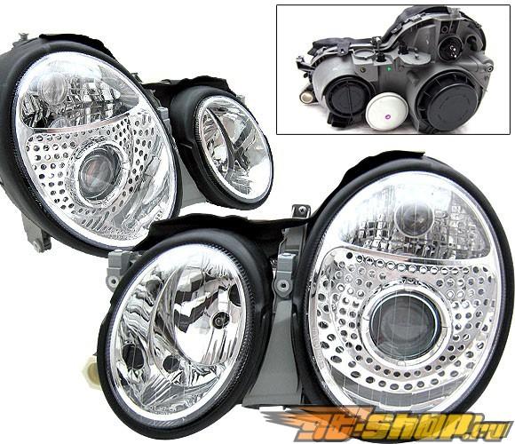 Передние фонари для Mercedes 98-02 Projector Хром
