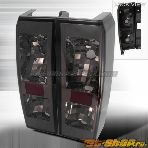Задние фонари на Hummer H3 06-07 Тёмный хром : Spec-D