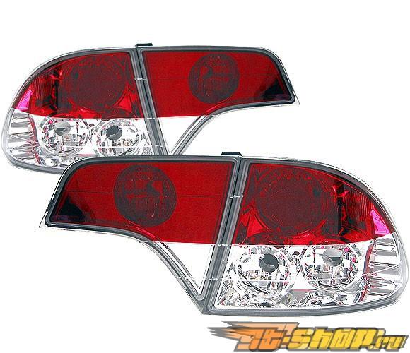 Задние фары на Honda Civic 06-08 Красный