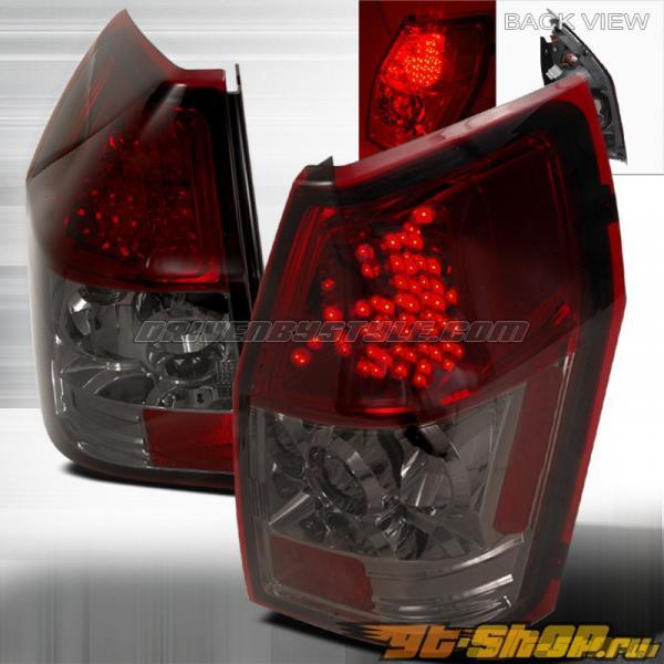 Задняя оптика на Dodge Magnum 05-06 Тёмный красный: Spec-D