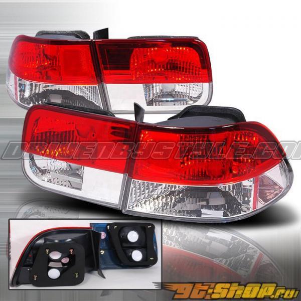Задняя оптика для Honda Civic 96-00 Красный V2 : Spec-D