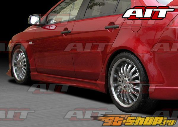 Пороги на Mitsubishi Lancer X 2007-2009 C-Weapon