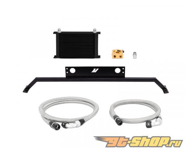 Mishimoto Чёрный Thermostatic маслокулер комплект Ford Mustang GT V8 5.0L 11-14