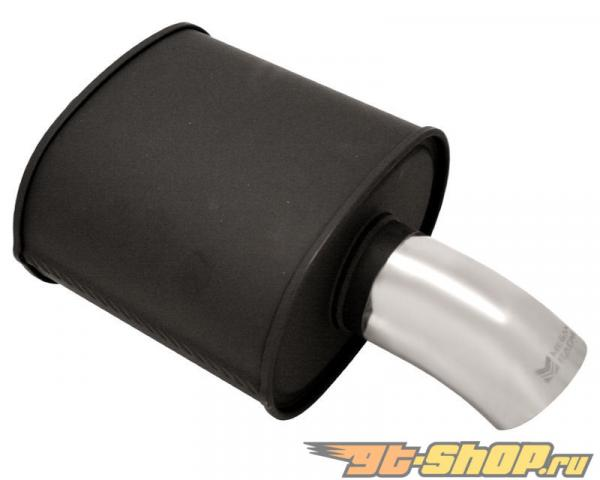 Megan Racing M-FG Чёрный нержавеющий Steel Muffler with Single 3.5inch Curved Down Tip