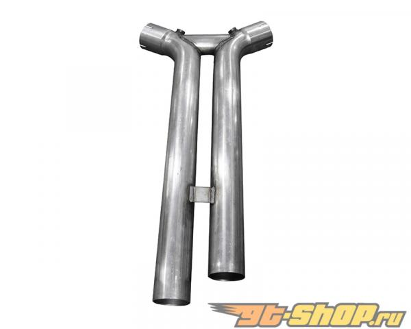 Американские Racing Bottle Neck Eliminator 1-3/4 Inch x 3 Inch Headers 3 Inch H-Pipe with Cats Ford Mustang GT 2015