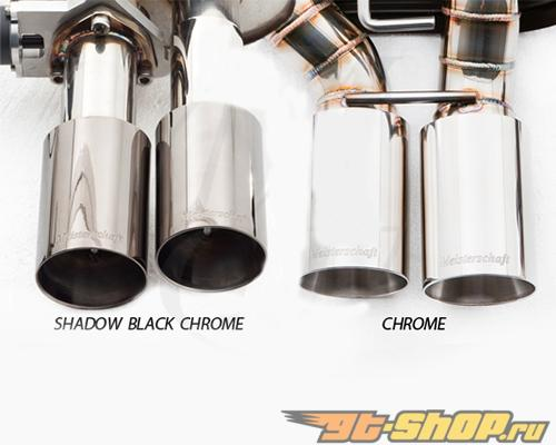 Meisterschaft Shadow Чёрный Хром 1x120x80mm Single выхлоп Tip