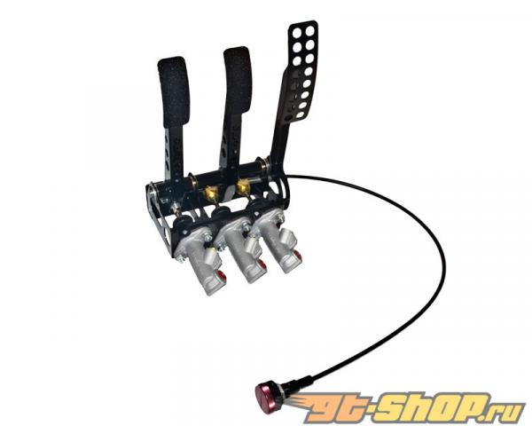 obp Motorsport Pro-Race Floor Mounted 3 Pedal Hydraulic  Сцепление  тормозной Cockpit Fit Pedal Box with Master Cylinders