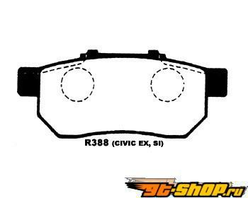 Project Mu B-Spec задний тормозной Pad Acura Integra 94-01