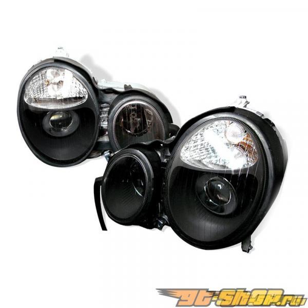 Передние фонари на Mercedes Benz 96-99 Projector Чёрный : Spec-D