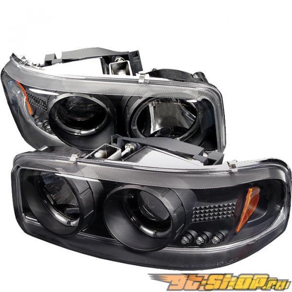 Передние фонари на GMC Denali 01-06 Halo Projector Чёрный : Spyder