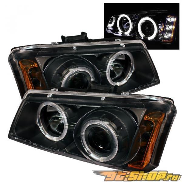 Передняя оптика для Chevrolet Silverado 03-05 Halo Projector Чёрный: Spyder
