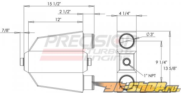 Precision T & E Liquid-to-Air Intercooler : PT1000 #23923