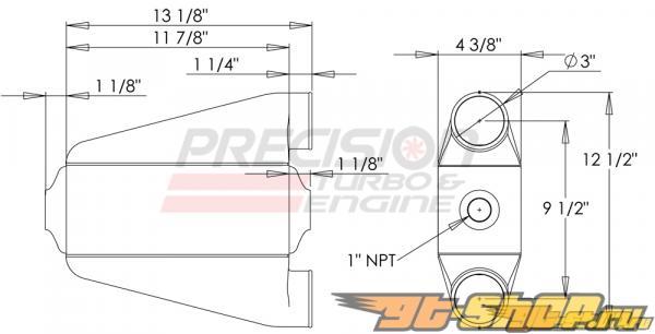 Precision T & E Liquid-to-Air Intercooler : PT1001 #23924