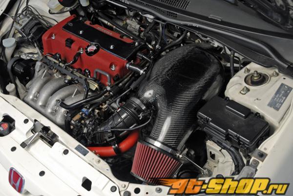Password JDM Сухой Карбоновый PowerChamber Intake Honda Civic Si 02-05
