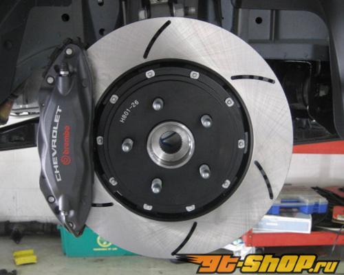 RacingBrake 380x34mm 2-части Open Slot задний тормозные диски Porsche 997 Turbo Iron Disc 07-12