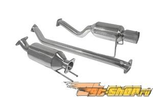 DC Sports Single Canister нержавеющий Steel Выхлопная система - Honda Civic Euro R 02-05