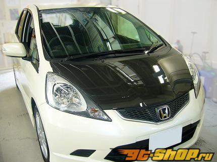 SPOON Sports Bonnet - Карбон - Honda Fit GE6-9 09-13