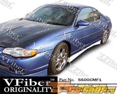 Пороги для Chevrolet Monte Carlo 00-05 F1 VFiber