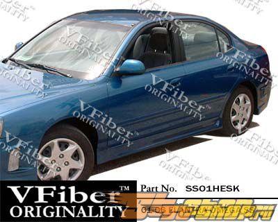 Пороги для Hyundai Elantra 01-06 Omega VFiber