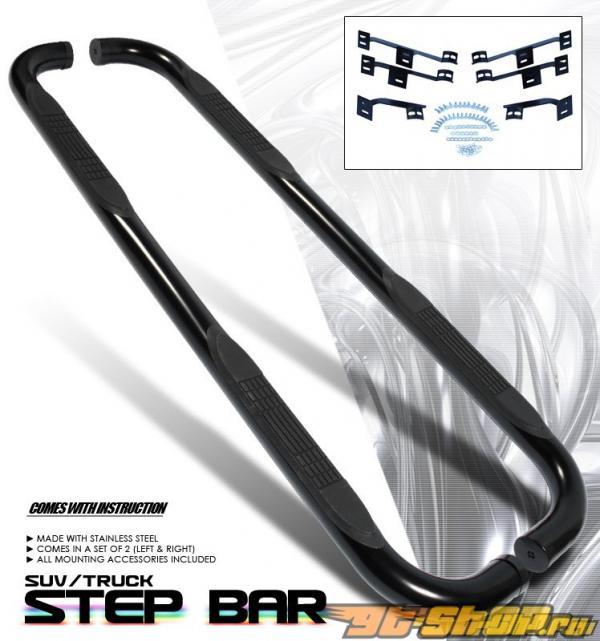 Пороги Чёрный для Nissan Murano 2003-2007