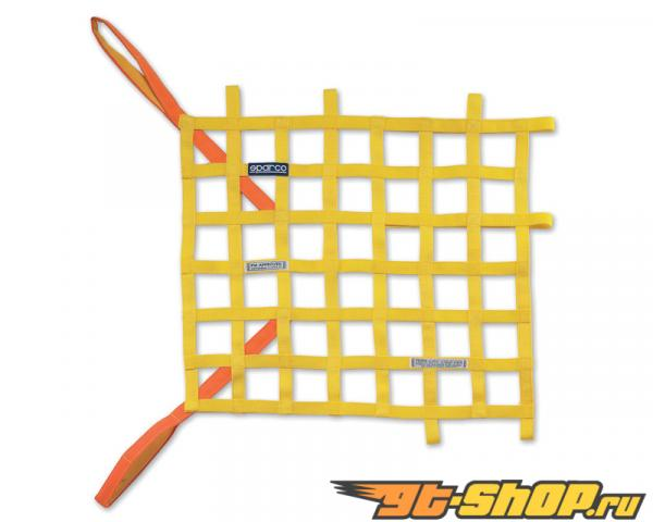 Sparco желтая гоночная защитная сетка