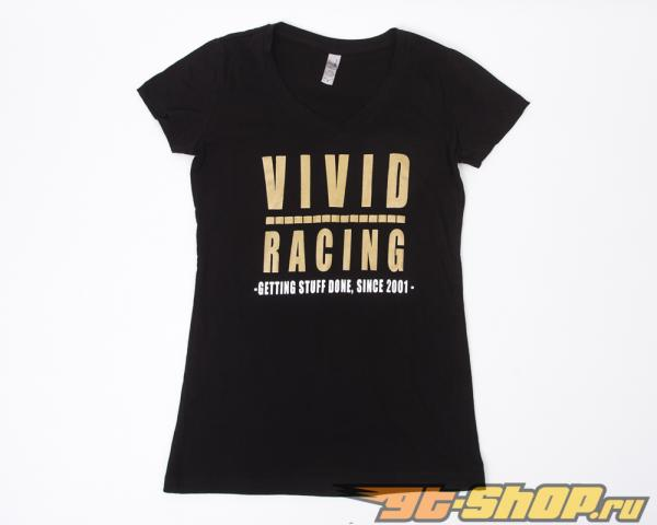 Vivid Racing Getting Stuff Done Since 2001 V-Neck Womens SM