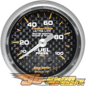 Autometer Карбоновый 2 1/16 давления топлива 0-100 Датчик